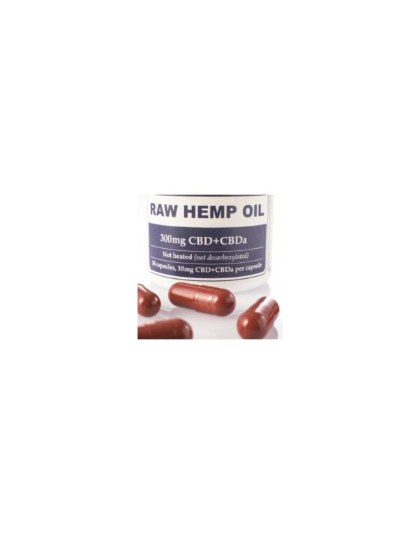 Capsules Raw Hemp Oil Total:300mg CBD+CBDa