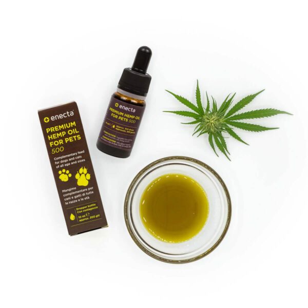 CBD for pets enecta 5% - Packaging with bottle and oil