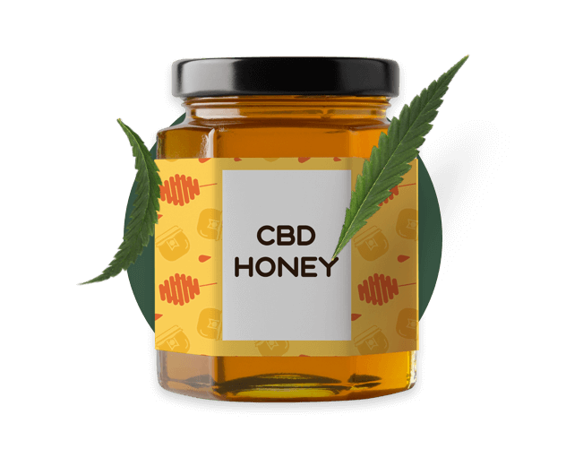 CBD Honey packaging from Hempoil Shop