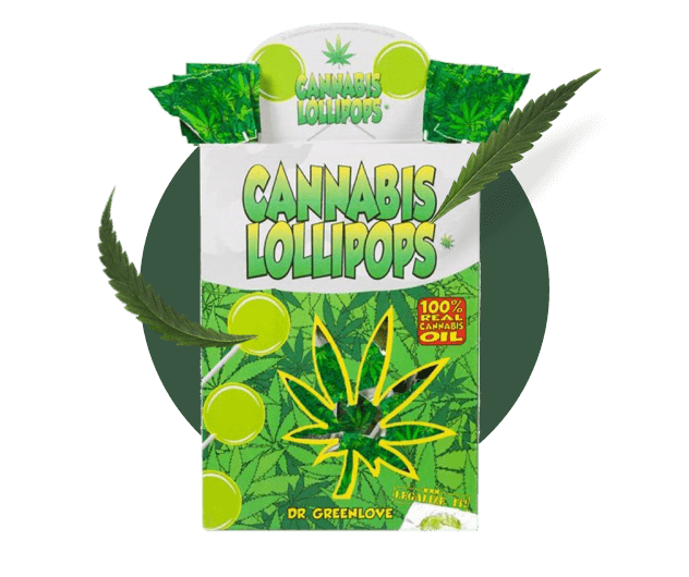 CBD Lollipops packaging