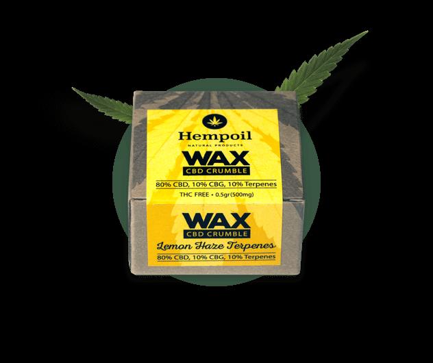 Wax crumble product shot