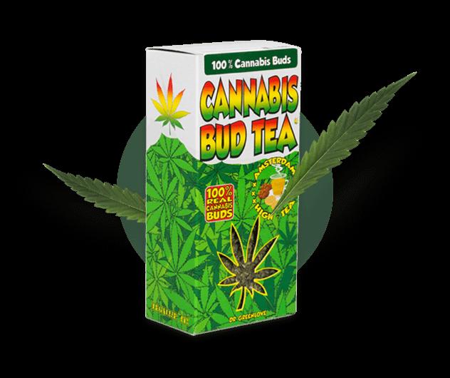 Raw hemp buds packaging