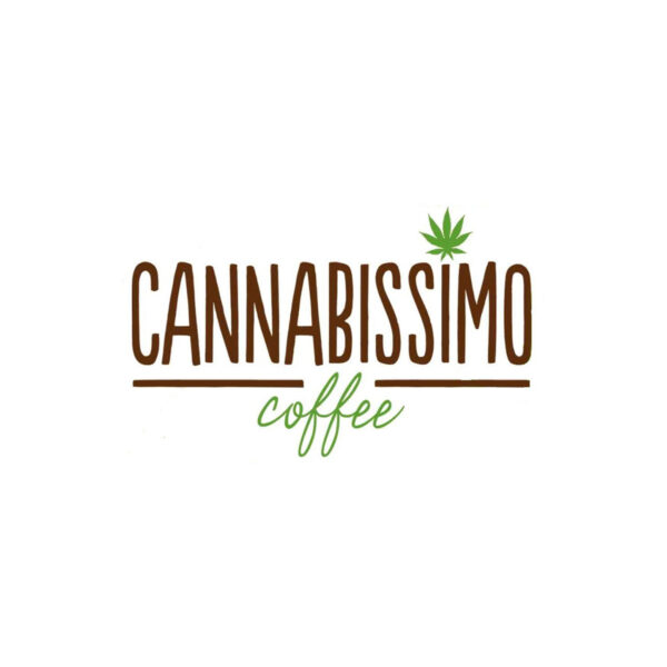 Cannabissimo logotype espresso with CBD