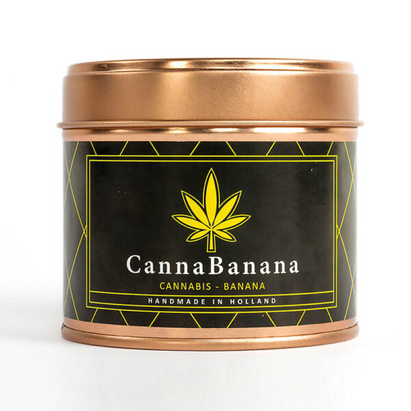 Cannacandle cannabis candle with banana scent