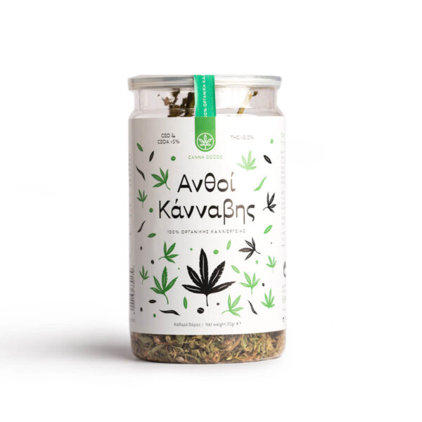 Raw Hemp Buds packaging from Hempoil.
