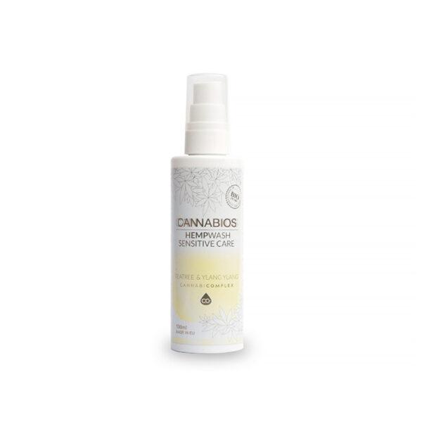 HempWash Spray Sensitive Care CBD Shower Gel & Sensitive Area 2 in 1 (Teatree+YlangYlang) - 100ml - product photo