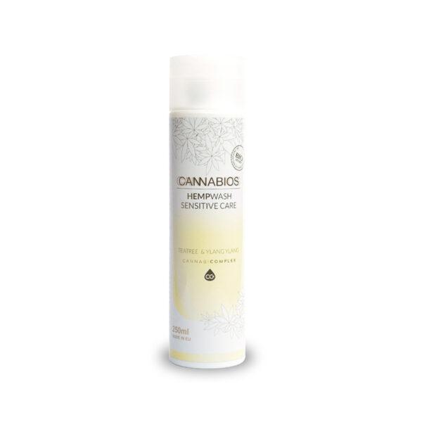 HempWash Spray Sensitive Care CBD Shower Gel & Sensitive Area 2 in 1 (Teatree+YlangYlang) - 250ml - product photo