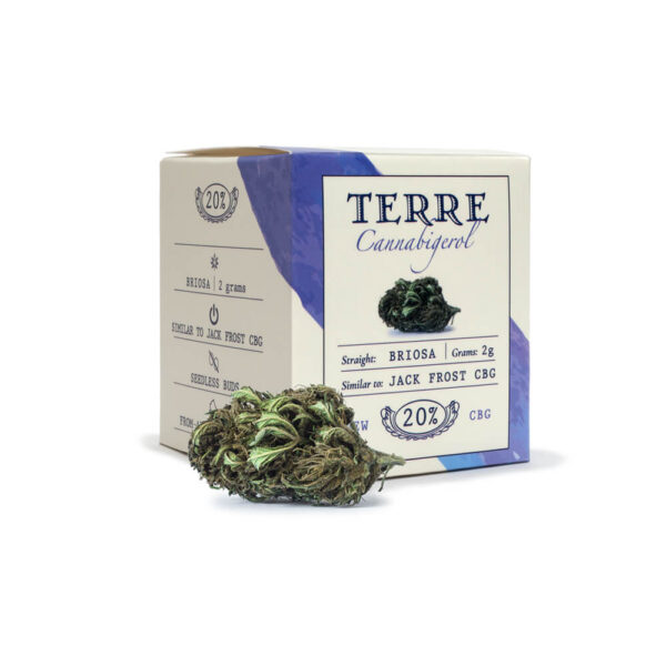Terre Di Cannabis Briosa CBG - 2gr. - photo of pack and bud