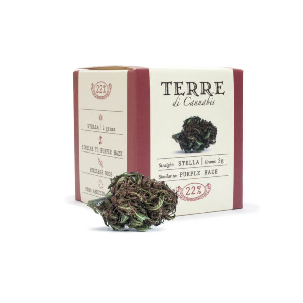 Terre Di Cannabis Stella - 2gr. - photo of pack and bud
