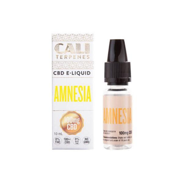 E-Liquid CBD (100mg) | Amnesia - 10ml - product packaging