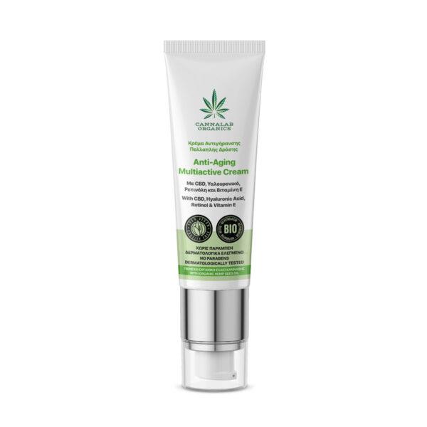 Cannalab Organics Multiactive Anti-Aging Cream With CBD, Hyaluronic Acid, Retinol & Vitamin E - 45ml - product photo
