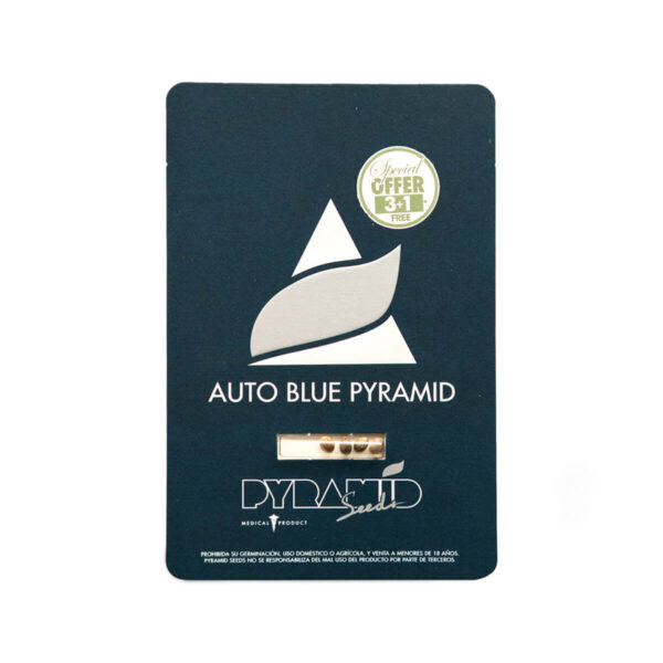 Pyramid Seeds | Autoflowering Cannabis Seeds – Auto Blue Pyramid – 3+1pcs - packaging photo
