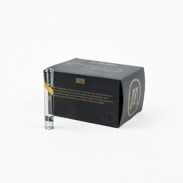 Marley Smoked Glass Taster - Γυάλινη Πίπα κουτί συσκευασίας για άτμισμα CBD και ξηρών βοτάνων.